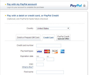 How to pay with a credit card WITHOUT a PayPal account? - iZugar